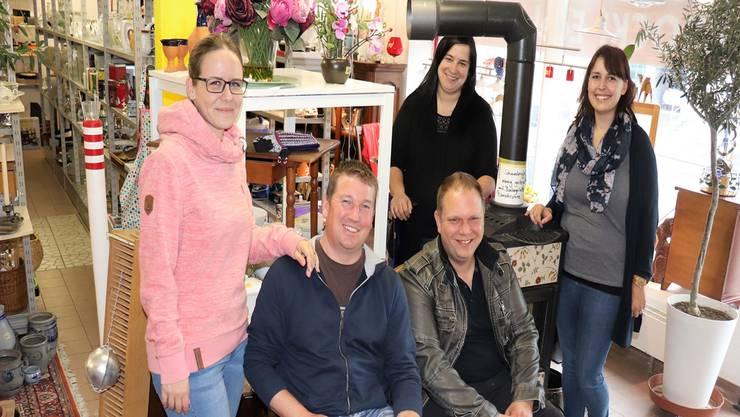 Von links: Jeannine Peter, Patrik Peter, Fabienne Kasper, Stefan Segessenmann und Janine Urben.