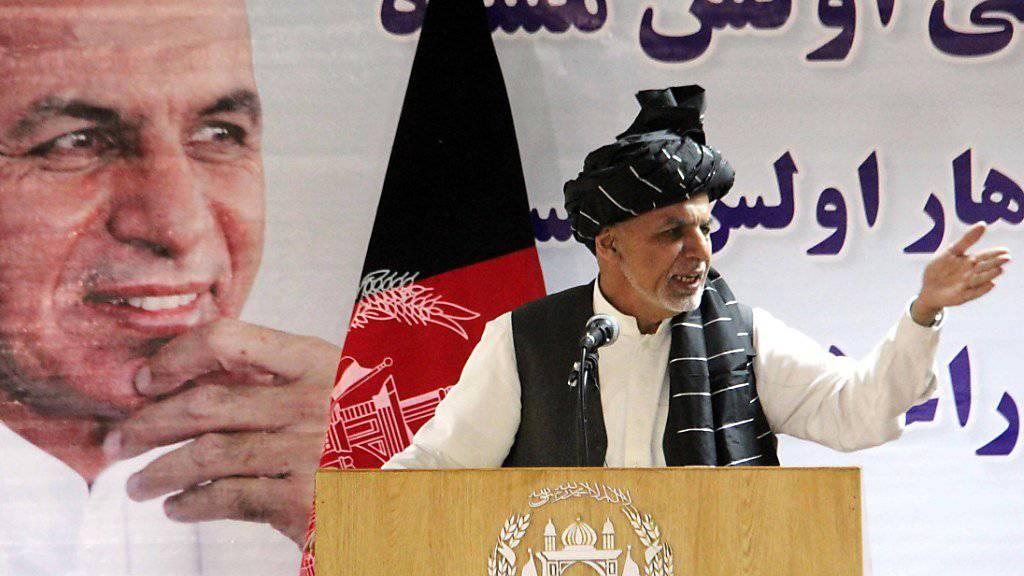 Afghanischer Präsident ruft Taliban zur Umkehr auf