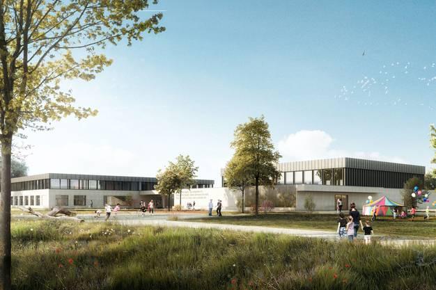 Die Schulanlage Mühlematt in Villmergen.