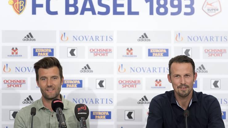 Die neuen Gesichter des FC Basel: Raphael Wicky und Marco Streller