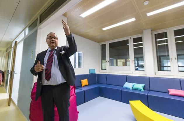 Eröffnung der neuen, spezialisierten Station für Menschen mit intellektueller Entwicklungsstörung und psychischer Erkrankung der Psychiatrischen Dienste Aargau (PDAG) in Windisch. (5. November 2018)