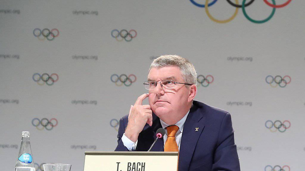 Thomas Bach gibt in Lima auch zu unangenehmen Themen Auskunft