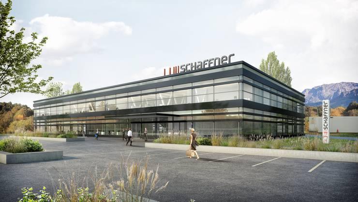In diesen geplanten Neubau am bisherigen Standort in Luterbach will die Schaffner AG Ende 2018 einziehen. (Illustration)