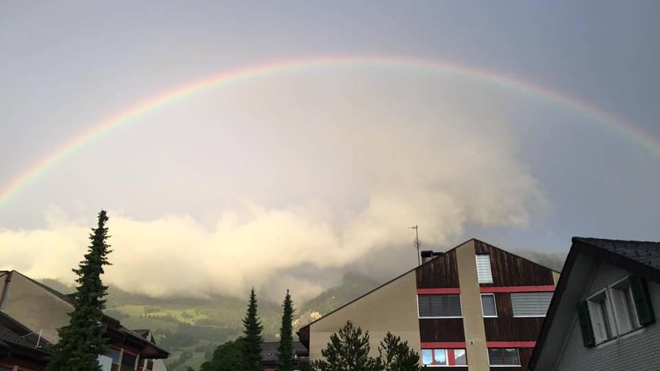 Regenbogen über der Zentralschweiz