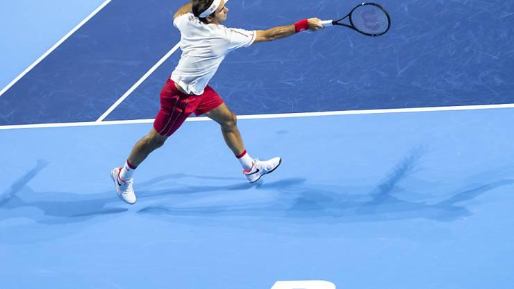 Weder spielt der rekonvaleszente Roger Federer - hier vor Jahresfrist in der 2. Runde - momentan Turniertennis, noch konnten die Swiss Indoors stattfinden