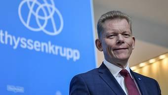 Der erst unlängst berufene Konzernchef von Thyssenkrupp, Guido Kerkhoff, soll das deutsche Unternehmen auf Wunsch des Verwaltungsrates schon bald wieder verlassen. (Archivbild)