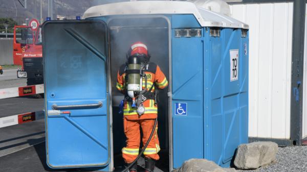 In Altdorf brannte ein ToiToi-WC.