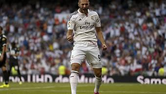 Karim Benzema bejubelt sein Tor zur 1:0-Führung für Real Madrid.