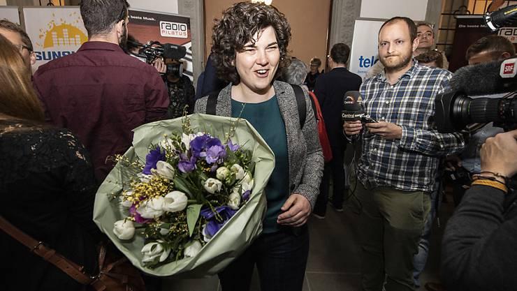 Die Regierungsratskandidatin der Grünen, Korintha Bärtsch, überraschte bei den Wahlen in Luzern mit dem fünftbesten Resultat.