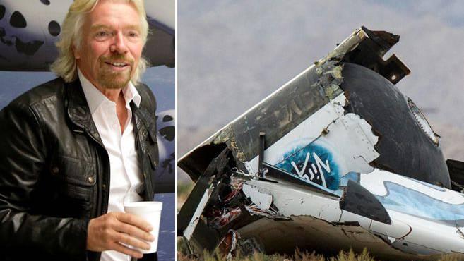 Richard Bransons Raumfähre Space Ship Two stürzte in die Wüste.