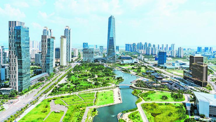 Etwa 40 Kilometer von der Hauptstadt Seoul liegt die südkoreanische Planstadt Songdo. Sie ist erst wenige Jahre alt.
