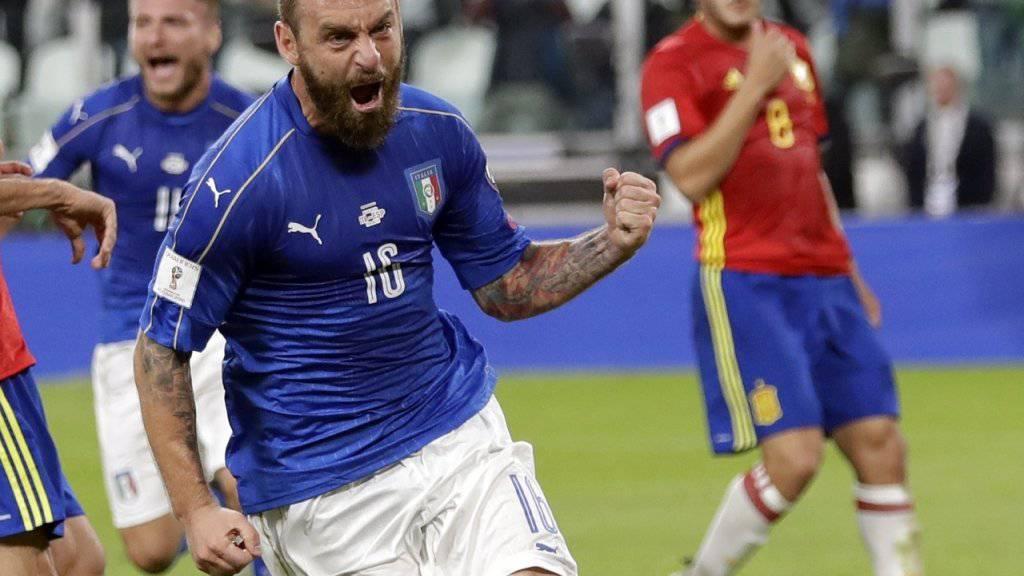 Daniele De Rossi sicherte Italien den glückhaften Punkt