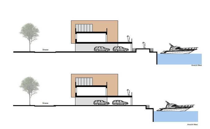 So sehen die Häuser im Seitenriss aus