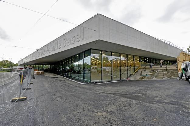 So sah die neue Halle vor den Swiss Indoors aus.
