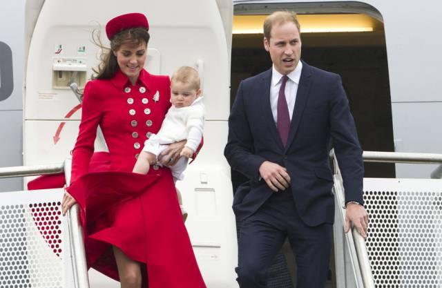 Ankunft in Neuseeland: Prinz William, Kate und George