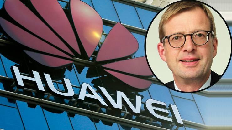 Immer wieder Gesetze missachtet? Die USA erheben schwere Vorwürfe gegen Huawei. Felix Kamer (kleines Bild) verteidigt das Unternehmen.