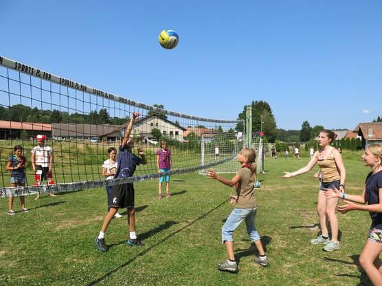 Spiel und Sport kamen im Pfadilager nicht zu kurz