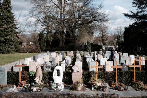 Der Friedhof der evangelischen Kirchgemeinde Rupperswil