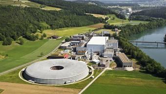 Das Paul-Scherrer-Institut in Villigen. Vorne links die Synchrotron-Lichtquelle Schweiz (SLS).