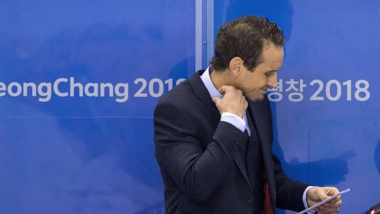 Nationaltrainer Patrick Fischer war nach Scheitern gegen Deutschland ratlos