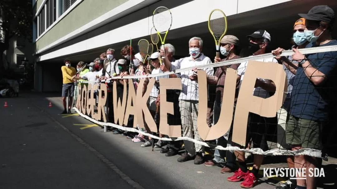 Wake Up Roger! Protest vor Roger Federer Stiftung