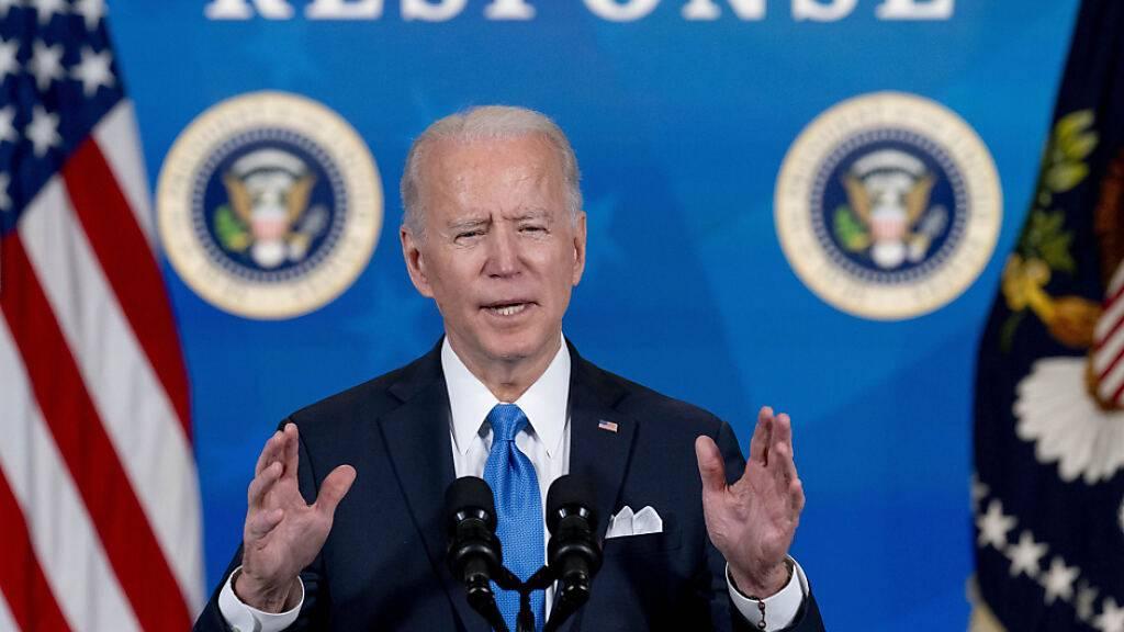 US-Präsident Joe Biden spricht bei einer Veranstaltung. Foto: Andrew Harnik/AP/dpa
