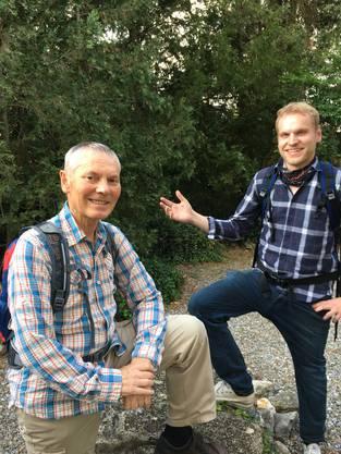 Adrian Bircher (GLP- Grossrat) hat mit seinem Vater Silvio einige Jurahöhen erwandert.