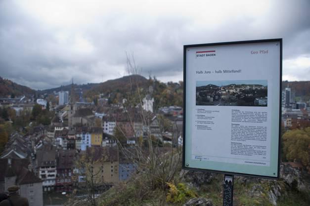 Die Treppe zum Schloss Schartenfels gehört zum Geopfad der Stadt Baden