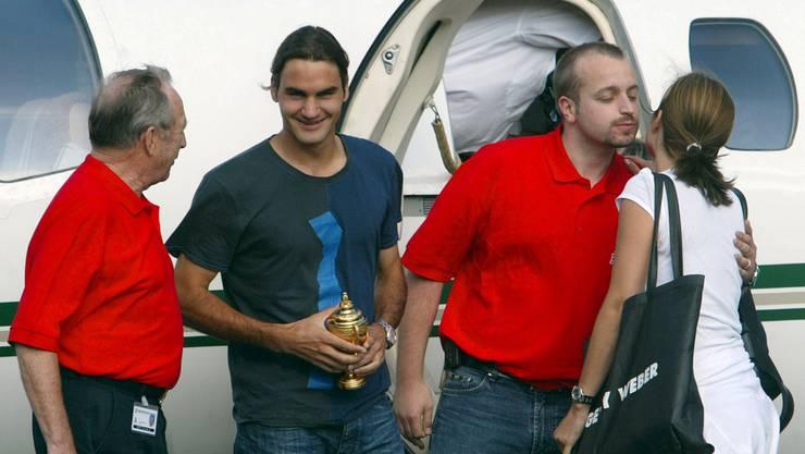 Nur für kurze Flüge benutzt Roger Federer einen Privatjet.