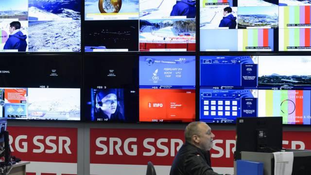 Ein Studio der SRG während den Olympischen Spielen (Archiv)