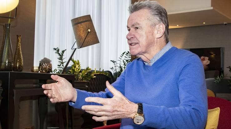 Grenzgänger Ottmar Hitzfeld wohnt in Lörrach und kommt oft nach Basel, auch für dieses Interview.