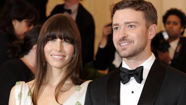 Ein überglückliches Paar: Jessica Biel und Justin Timberlake bei einer Gala im Mai (Archiv)