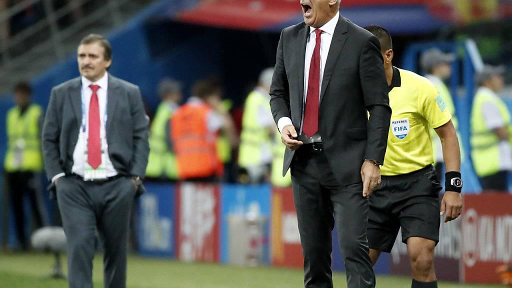 Vladimir Petkovic musste gegen Costa Rica verbal oft eingreifen