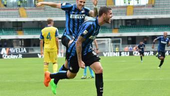 Inters einziger Torschütze in Verona: Mauro Icardi (rechts)