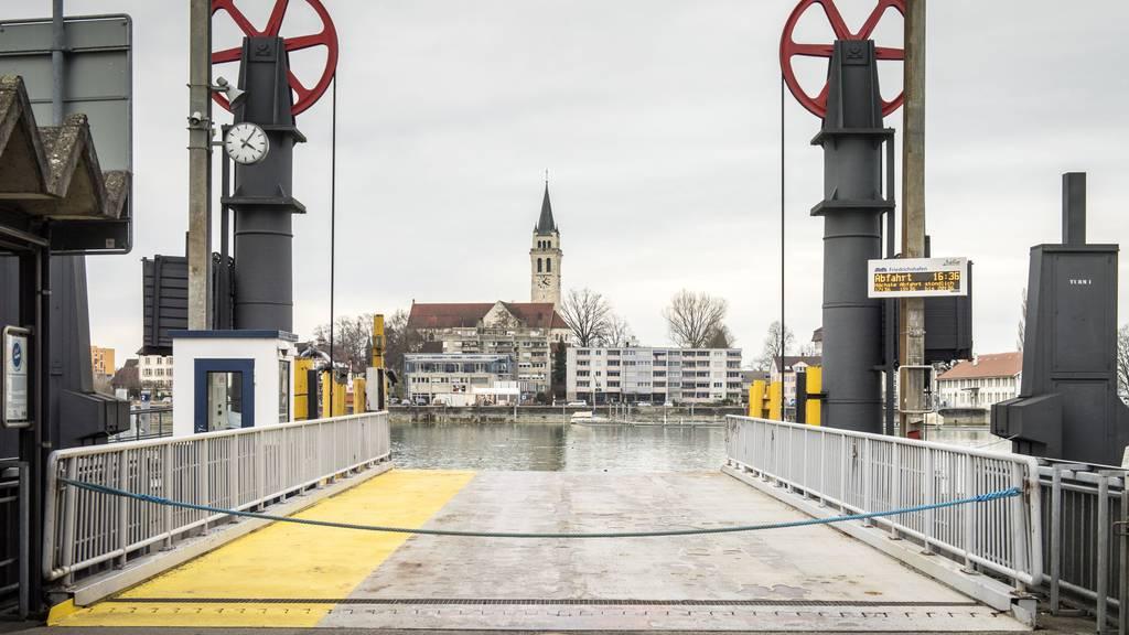 Die Fähr-Anlagestelle in Romanshorn.