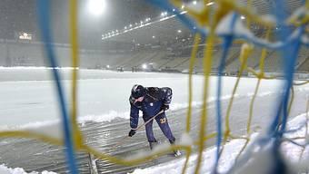 Zu viel Schnee in Parma.