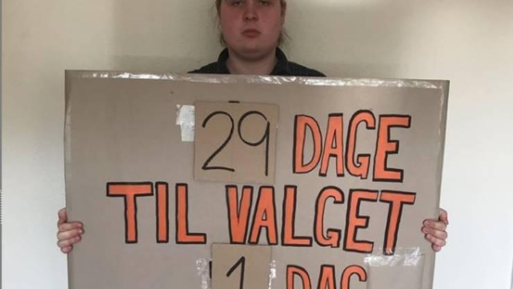 Klimapolitik extrem: Der junge Däne Mikkel Brix will bis zur dänischen Parlamentswahl am 5. Juni nichts mehr Essen.