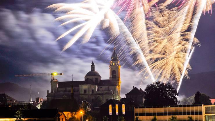 Wird es dieses Jahr nicht geben: Feuerwerk in Solothurn am 1. August.