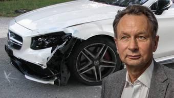 Philipp Müllers Mercedes kollidiert frontal mit Rollerfahrerin (17)