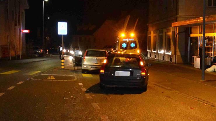Auffahrkollision am Fussgängerstreifen in Balsthal