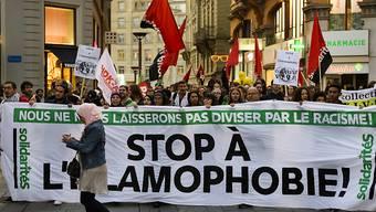 Protest in Lausanne gegen Islamophobie