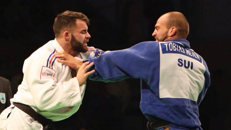 Tobias Meier (rechts) feierte an der CISM Judo WM mit Bronze einen grossen Erfolg.