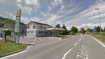 Die Tankstelle an der Zürcherstrasse in Bad Zurzach: Hier kam es zum Unfall, damals war hier aber eine Baustelle.
