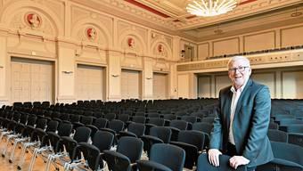 Im Konzertsaal fand am Donnerstagabend die letzte Vorstellung statt, die Geschäftsführer Herbert Schibler in seinen vierzehneinhalb Jahren Amtszeit verantwortete.