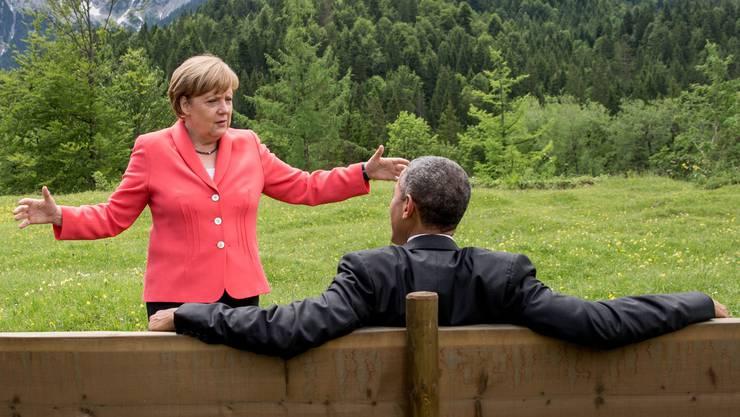 Nehmen sich Grosses vor: Bundeskanzlerin Angela Merkel und US-Präsident Barack Obama am G7-Gipfel in Elmau.