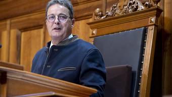 Sänderatspräsident Jean-René Fournier (CVP) hält seine Antrittsrede in der kleinen Kammer.