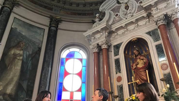 Bundesrat Cassis hat die Kathedrale von San José di Mayo in Uruguay besucht. Dort befinden sich Werke des aus dem Tessin stammenden Künstlers Martino Perlasca.