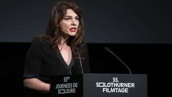 Bei den 55.Solothurner Filmtagen durfte Anita Hugi noch direkt vor Publikum sprechen.
