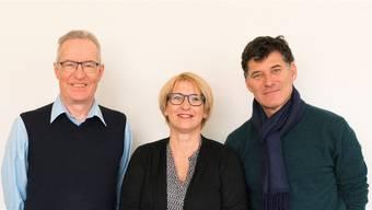 Von links: Stiftungspräsident Cyrill Jeger mit den Mitgliedern Marion Rauber und Daniel Wermelinger.