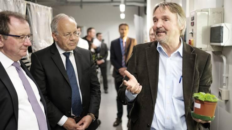 Christian Schmidt, Bundesminister Ernährung und Landwirtschaft (Deutschland) und Bundesrat Johann Schneider-Ammann, Vorsteher des Departements Wirtschaft, Bildun